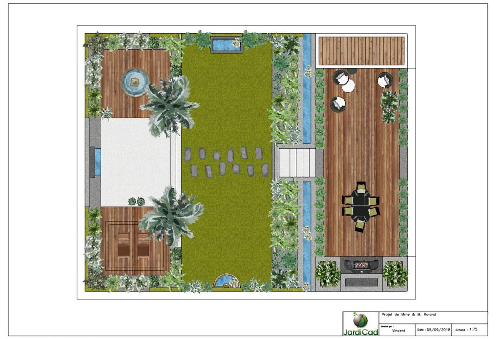 logiciel de plans paysagers 2d dao-cao