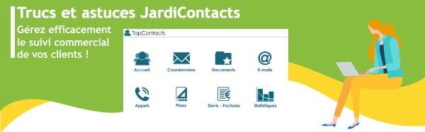 JardiContacts, gestion commerciale, suivi commercial